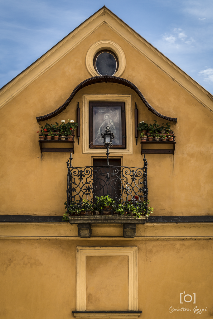 Prague balcony