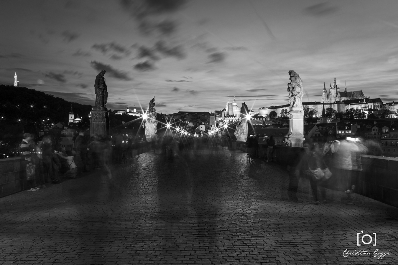 Charles Bridge by night. Image © Christina Goggi