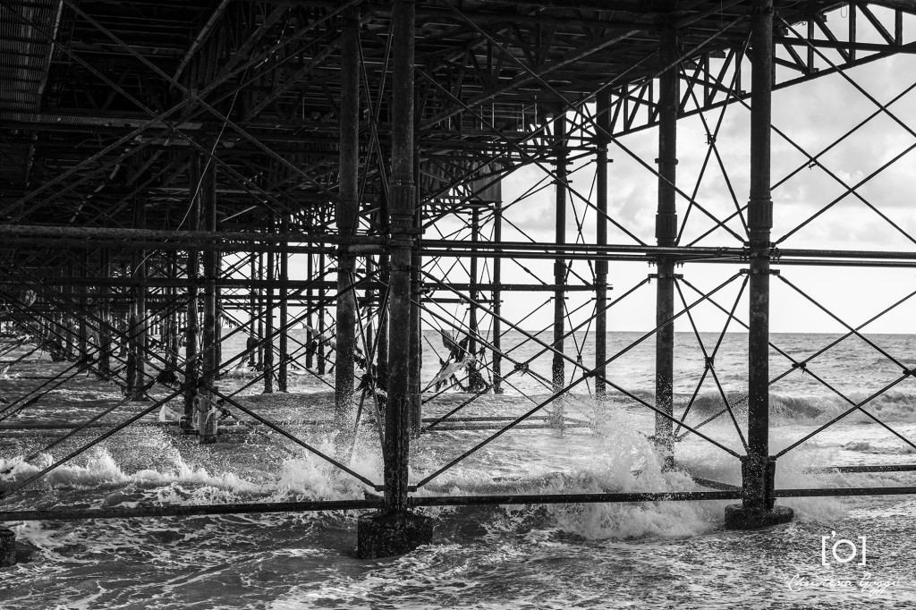 Brighton Pier waves. Image by Christina Goggi Photography