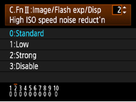 Canon high ISO speed noise reduction