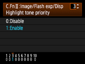 Canon Highlight Tone Priority