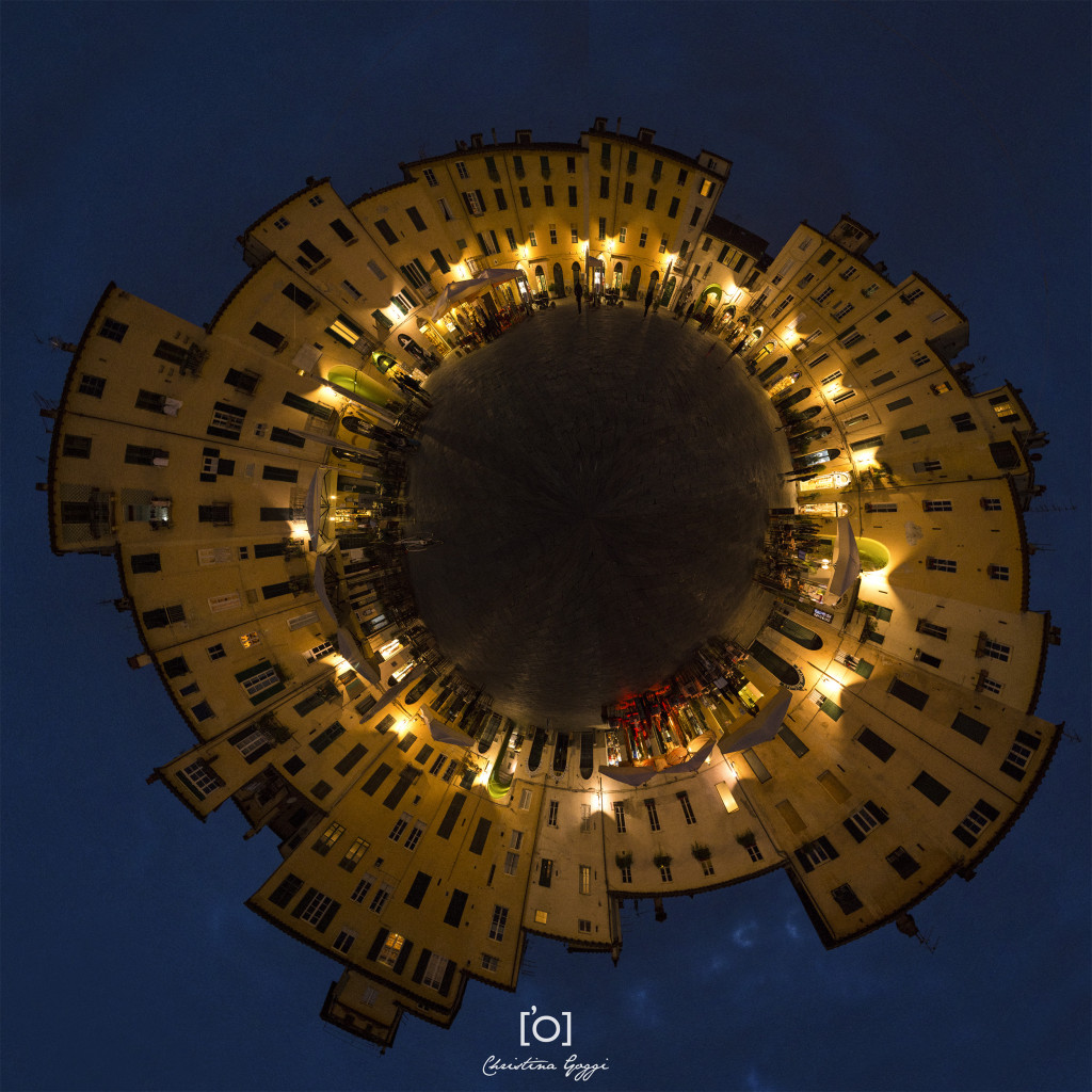 stereographic projection photo of Lucca by Goggi photography